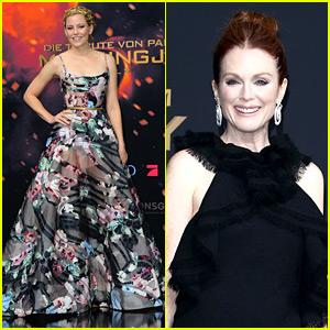 Elizabeth Banks & Julianne Moore Get Dressy for 'Mockingjay Part 2' Premiere!