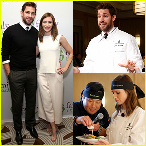 Emily Blunt & John Krasinski Cook Up a Storm to Fight Pediatric Cancer with Family Reach