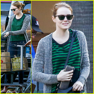 Emma Stone Stocks Up on Groceries After the Holiday