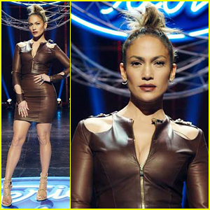 Jennifer Lopez Rocks Tight Dress at 'American Idol' Hollywood Week!