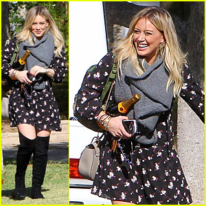 Hilary Duff Celebrates Thanksgiving at Mama Duff's House