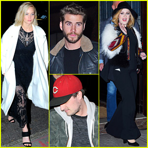 Jennifer Lawrence & Adele Dine with the 'Hunger Games' Guys!