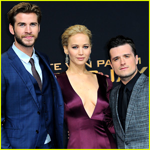 Jennifer Lawrence, Liam Hemsworth, & Josh Hutcherson Premiere 'Hunger Games' in Berlin!