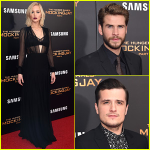 Jennifer Lawrence Wears Lace Bra Under Sheer Dress at 'Mockingjay Part 2' NYC Premiere