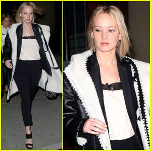 Jennifer Lawrence Has a Night Out on Broadway