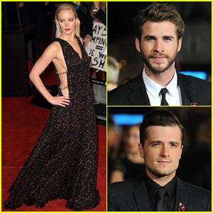 Jennifer Lawrence & Her Co-Stars Premiere 'Mockingjay Part 2' To London