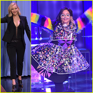 Jennifer Lawrence Wore the Craziest Outfit Ever on u2018Fallonu2019 | Jennifer Lawrence Jimmy Fallon ...