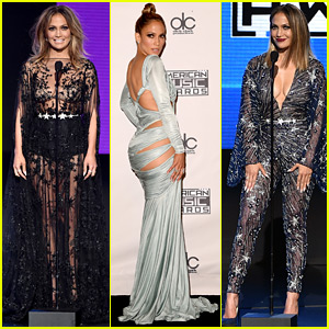 Jennifer Lopez Rocks So Many Different Looks at the AMAs 2015!