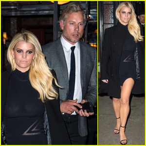 Jessica Simpson Dons a Little Black Dress for NYC Date Night