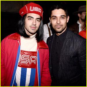 Joe Jonas & Wilmer Valderrama Hang Out at Just Jared's Halloween Party!