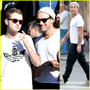 Jude Law Takes a Break from 'The Young Pope' with Son Rafferty