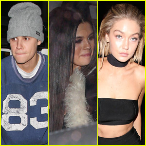 Justin Bieber Parties With Selena Gomez, Gigi Hadid, & More at His AMAs After-Party