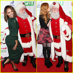 Kat Graham & Katherine McNamara Party with Santa Claus!
