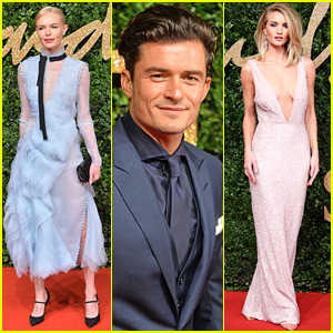 Friendly Exes Kate Bosworth & Orlando Bloom Attend British Fashion Awards 2015