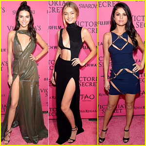 Kendall Jenner & Gigi Hadid Celebrate at VS After Party with Selena Gomez