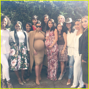 Kim Kardashian Shows Off Growing Bump at Pal's Baby Shower