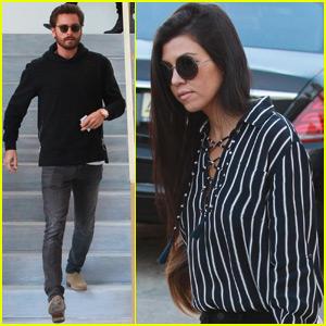 Kourtney Kardashian & Scott Disick Meet Up For Shopping With Mason