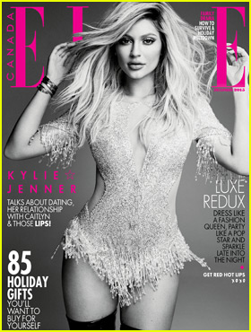 Kylie Jenner Talks Tyga, Caitlyn, & Plastic Surgery Rumors for 'Elle Canada' December 2015 Cover