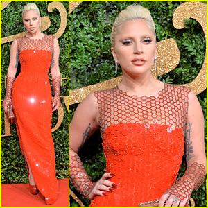 Lady Gaga Is Red Hot in Tom Ford at British Fashion Awards 2015