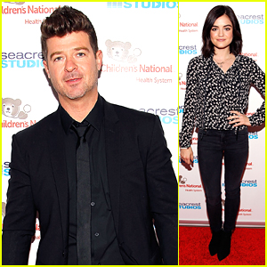 Robin Thicke & Lucy Hale Head To Washington, D.C. For Seacrest Studios Grand Opening Event