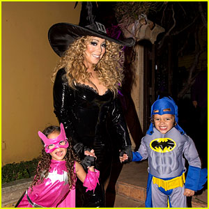 Mariah Carey Celebrates Halloween with Her Superhero Kids!