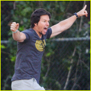 Mark Wahlberg Cheers On His Son at Soccer Game