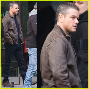 Matt Damon Has Some Downtime On The Set of 'Bourne 5'
