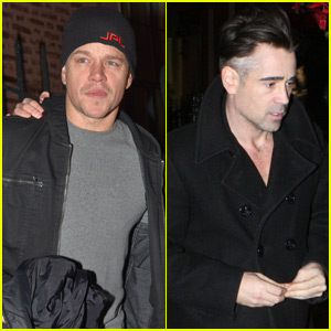 Matt Damon & Colin Farrell Hit Up the U2 Concert in Dublin
