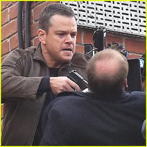 Matt Damon Films an Intense Scene with a Gun for 'Bourne 5'