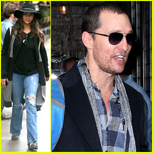 Matthew McConaughey & Wife Camila Alves Step Out in New York Before 'SNL'