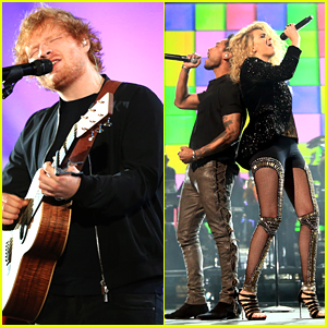 Ed Sheeran & Tori Kelly Perform At 'Shining A Light' Concert - See The Pics!
