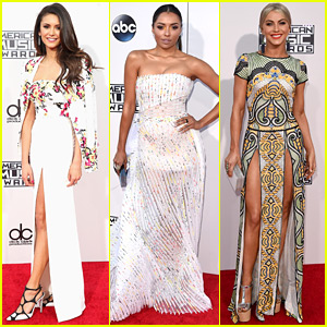 Nina Dobrev, Kat Graham, & Julianne Hough Arrive in Style for the AMAs 2015