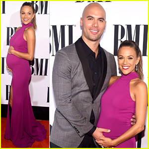 Pregnant Jana Kramer Flaunts Baby Bump in Form-Fitting Dress