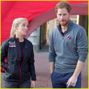 Prince Harry Greets 'Walking Wounded' After 1000-Mile Trek