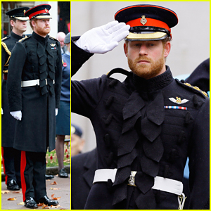Prince Harry Pays Respect To Britain's Fallen Soldiers At Westminster Abbey!