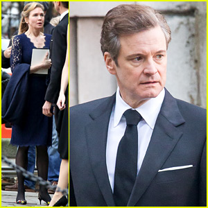 Renee Zellweger & Colin Firth Continue Filming 'Bridget Jones's Baby' in London!