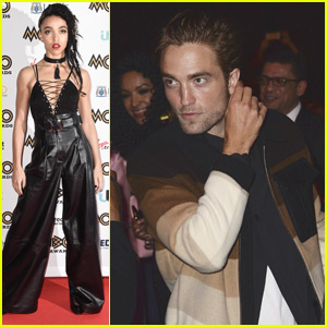 Robert Pattinson Supports FKA twigs at MOBO Awards 2015