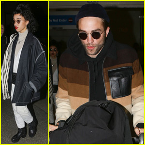 Robert Pattinson & FKA twigs Touch Down in L.A. Together