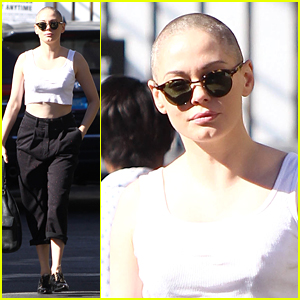 Rose McGowan Steps Out for the First Time Since Shaving Head