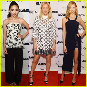 Ellie Goulding & Rowan Blanchard Make Stylish Arrivals at 2015 Glamour Women of the Year Awards