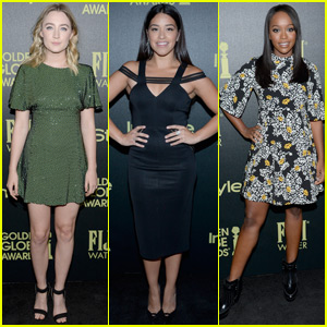 Saoirse Ronan & Gina Rodriguez Step Out for HFPA & InStyle's Pre-Golden Globes 2016 Celebration