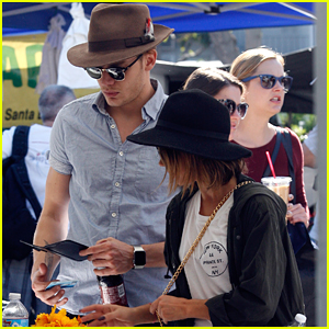 Sarah Hyland & Dominic Sherwood Hold Hands At The Farmer's Market