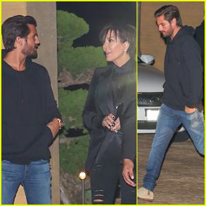 Scott Disick & Kris Jenner Do Dinner in Malibu