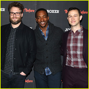 Seth Rogen, Joseph Gordon-Levitt, & Anthony Mackie Premiere 'The Night Before' in NYC!