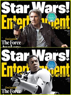 Harrison Ford, John Boyega, & Daisy Ridley Cover EW's Special 'Star Wars' Editions