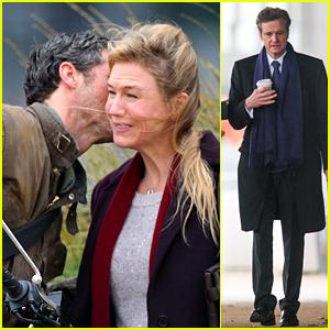 Renee Zellweger Gets Flirty with Patrick Dempsey on 'Bridget Jones' Set