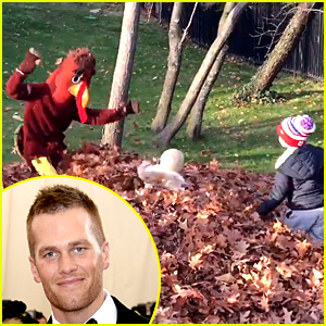 Tom Brady Dresses as a Turkey, Scares Kids on Thanksgiving!