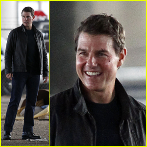Tom Cruise is All Smiles on Set of 'Jack Reacher: Never Go Back'