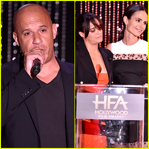 Vin Diesel Pays Tribute to Paul Walker at Hollywood Film Awards 2015 (Video)