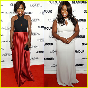 Viola Davis & Uzo Aduba Go Glam for Glamour's Women of the Year Awards 2015